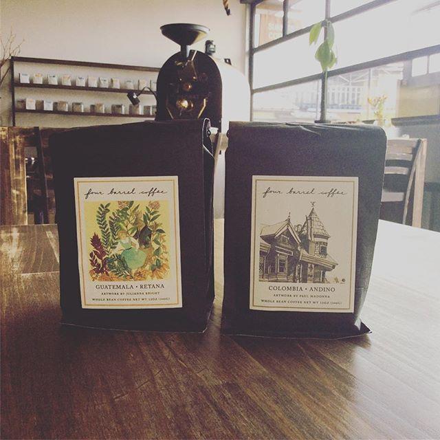 おはようございます先日Fourbarrel から新しい豆が届きましたColombia-AndinoGuatemala-Retanaです!その他にも、自家焙煎のEthiopiaもご用意しております是非お越し下さい#sunnyscoffee #fourbarrel #colombia #guatemala #coffee #cafe #coldbrew