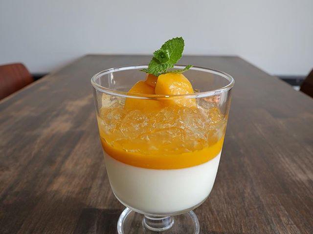 こんにちは台風が近づき、どんよりした天気ですね。そんな日に、濃厚なマンゴーソースとさわやかレモンゼリーの相性抜群なスッキリデザート「マンゴーパンナコッタ」がオススメ!!・1度は食べてほしい夏おすすめデザートです!・#サニーズコーヒー #コーヒー #コーヒー屋 #コーヒー屋デザート#マンゴー #マンゴーパンナコッタ #レモン #マンゴーパンナコッタ #sunnyscoffee #coffee #pannacotta #mango #lemon
