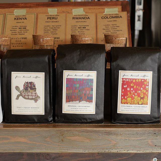 おはようございます!fourbarrel coffeeより新しい豆が届きました!普段飲めないコーヒーばかりなので是非お飲み下さい!お待ちしております!#sunnyscoffee #coffee #pourover #latte #espresso